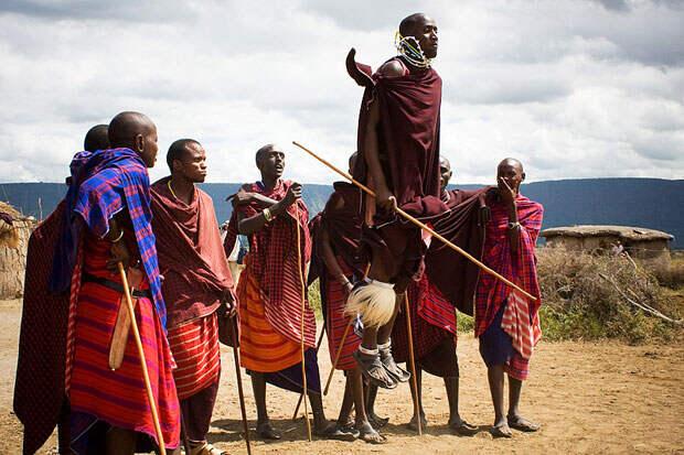Воинское посвящение в племени масаи из Кении и Северной Танзании