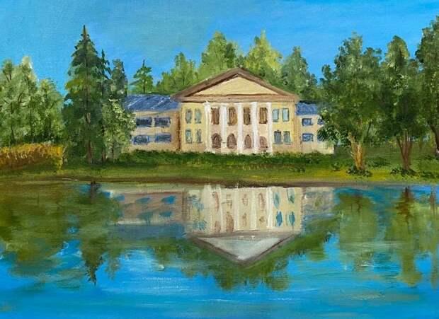 Юная художница из Северного передала красоту дома Банзы в Виноградове
