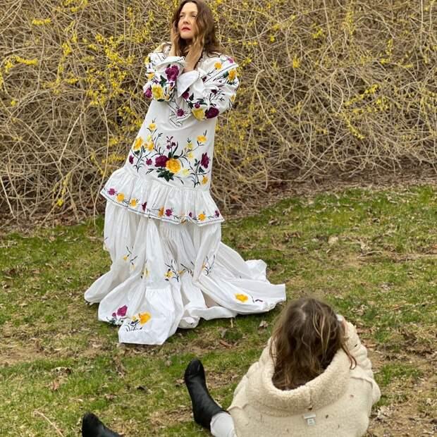 7-летняя дочь Дрю Бэрримор сняла маму для обложки модного журнала