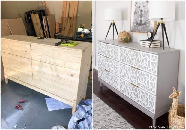 Девушка превратила базовую модель комода IKEA в стильный элемент интерьера!