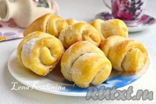 Рецепт домашних булочек с сахаром