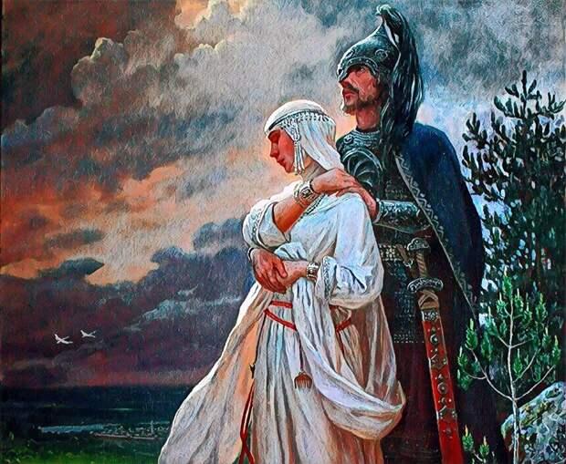 защищают свой поволжский дом мари-черемисы...(картина Андрея Шишкина)