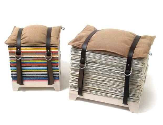 4. Стильные стулья в кофейню или на дачу газеты, идеи, макулатура, на все руки мастер, поделки, своими руками