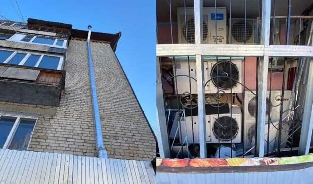 ВТюмени незаконно соорудили пристройку кмногоквартирному дому