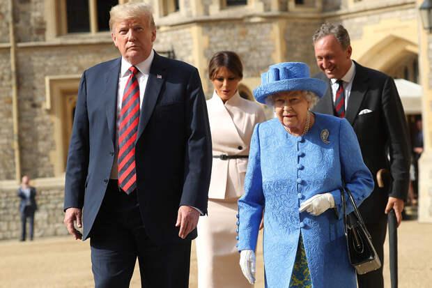 Дональд Трамп иЕлизавета II