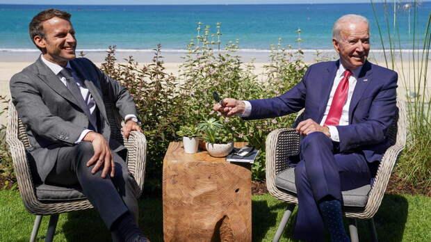 Байден и Макрон обсудили на саммите G7 Россию, Китай и НАТО