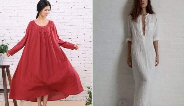 льняные платья выкройки