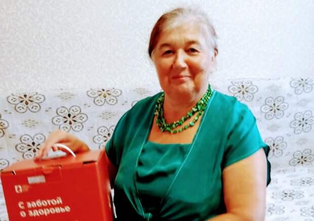 Пенсионерка из Щукина получила «коробку здоровья»