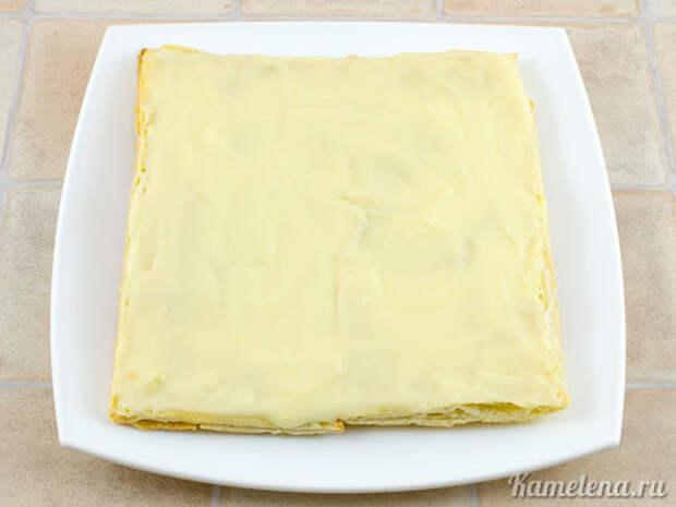 Торт «Наполеон» из слоеного теста — 10 шаг