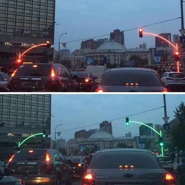 Необычные светофоры родом из Украины идеи, необычно, нестандартно, нестандартные идеи, оригинально, оригинальные решения, проблемы, решения