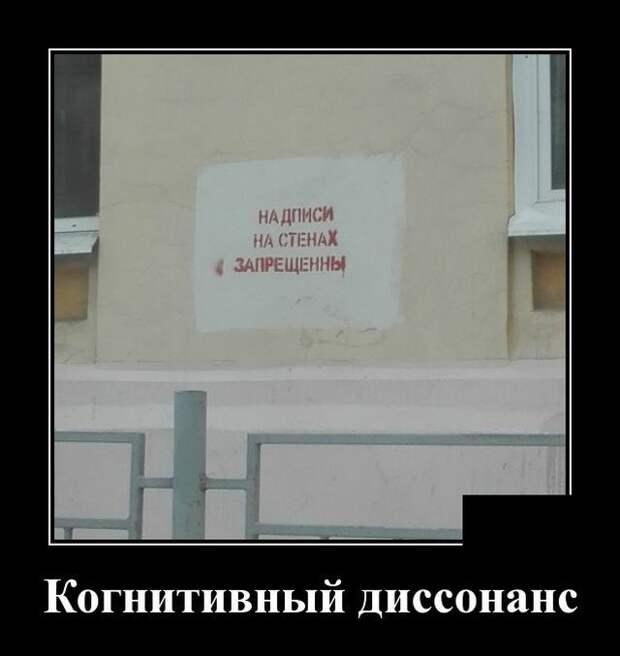 Демотиватор про диссонанс