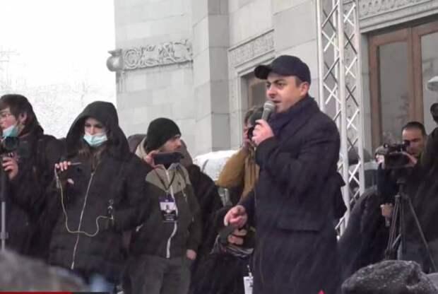 Протесты против Пашиняна в Ереване. 22.02.2021