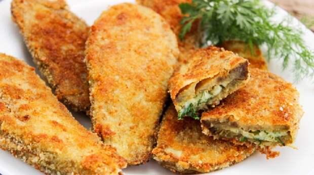 Шницели из баклажанов с сыром: сытные и сочные