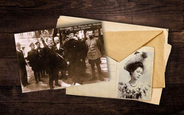 Скоропадский со своими офицерами; Александра Петровна, жена Скоропадского. Коллаж © L!FE Фото: © Wikipedia.org