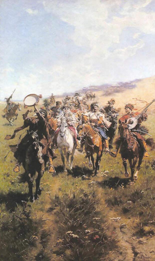 Юзеф Брандт. «Веселые казаки» (1893)