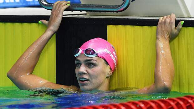 Ефимова завоевала золото на дистанции 100 м брассом на этапе «Маре Нострум» в Барселоне