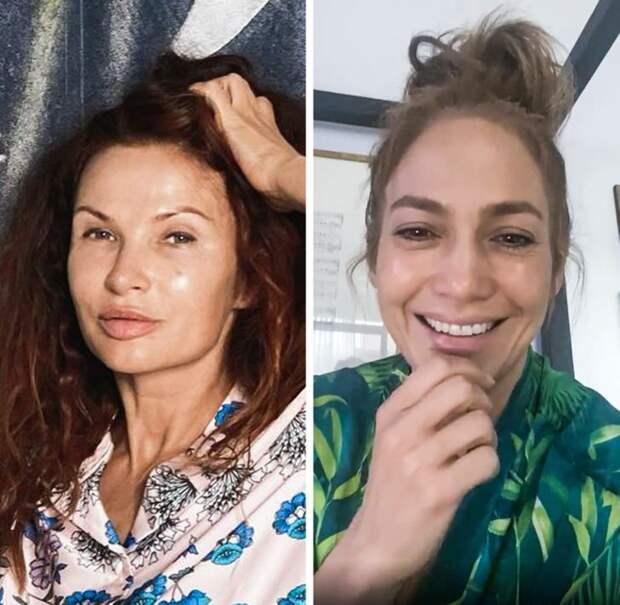 Знаменитости: Эвелина Бледанс и Дженнифер Лопес