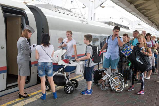 Количество отправленных скоростными поездами пассажиров выросло более чем на половину в январе-мае