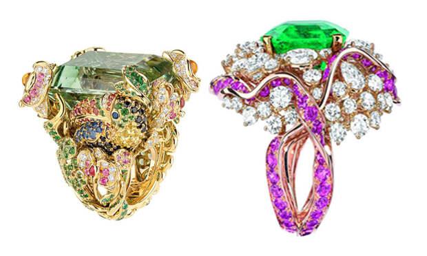 Кольца от ювелирной линии Dior.