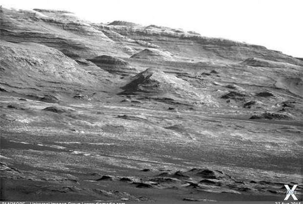 Гора Шарп. Снимок с марсохода Curiosity