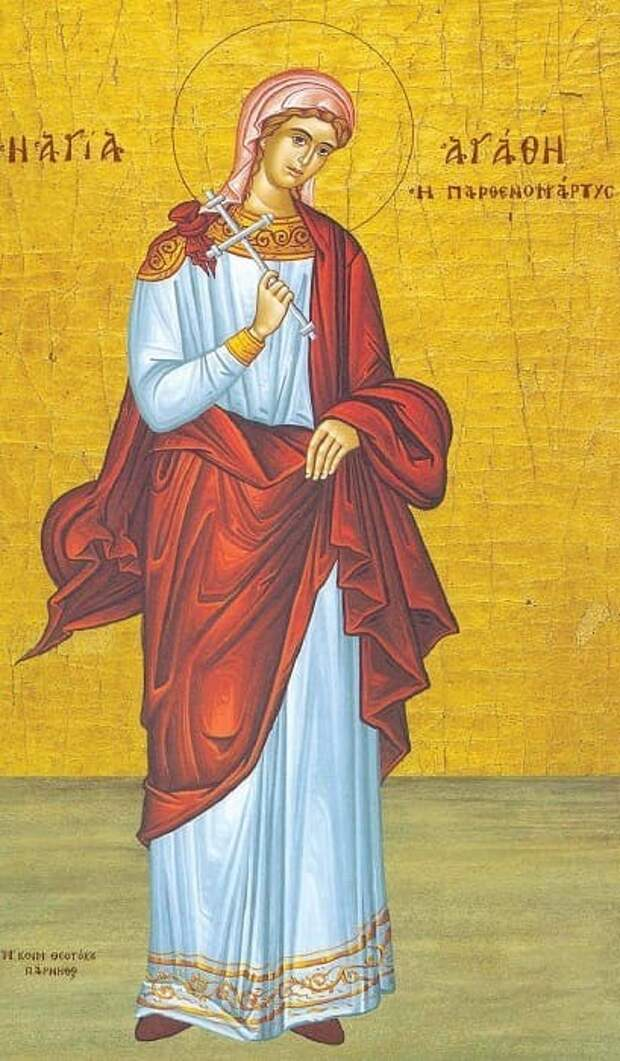 Дева-мученица Святая Агата наполотнах европейских художников