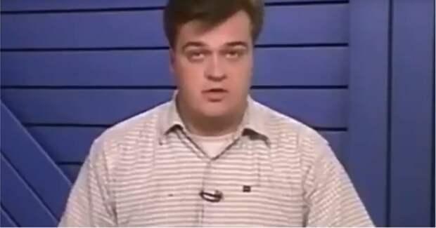 Молодой Василий Уткин советует зрителям пользоваться интернетом 90-е, 90-е годы, Василий Уткин, видео, интернет, ретро, россия, спорт