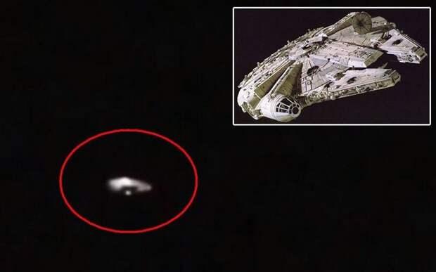 «Тысячелетний сокол» из фильма «Звездные войны» появился над США