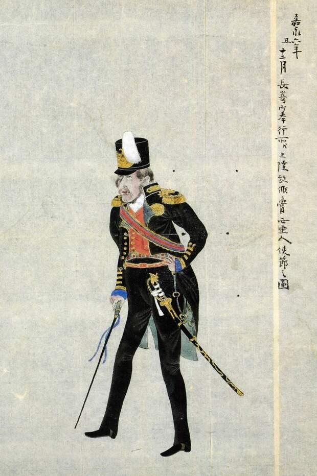 Японское изображение адмирала Путятина. <br>