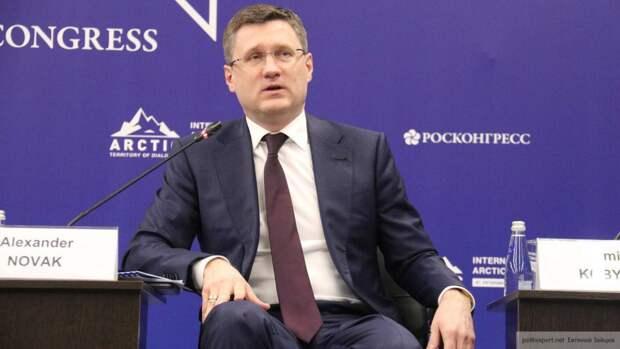 Новак: Россия наращивает поставки газа и угля в Китай