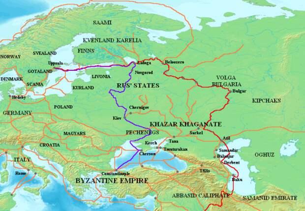 торговые маршруты Европы