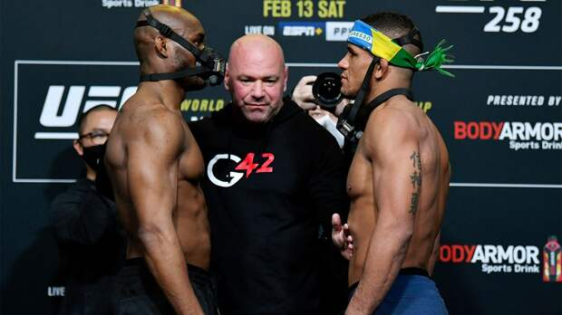 Усман и Бернс показали одинаковый вес перед турниром UFC 258
