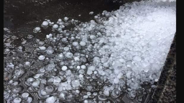 Льдины диаметром 20 мм обрушились на Оренбургскую область