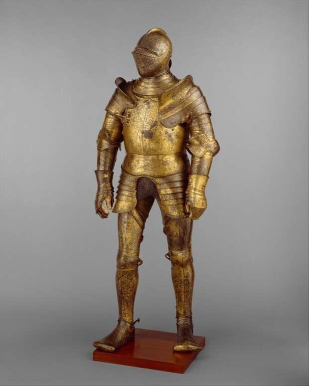 Доспехи, вероятно, принадлежавшие  Генриху VIII Английскому, королю Англии в 1509 - 1547 г.г.