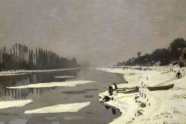 Ice Floes on the Seine at Bougival