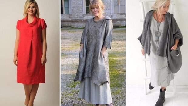 авторские льняные платья