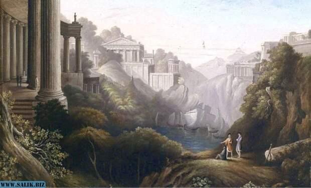 Европейский пейзаж (Ignaz Franz Leitner (1770).