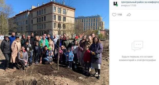 Петербуржцы создают сад Памяти на углу Кирочной и Новгородской улиц