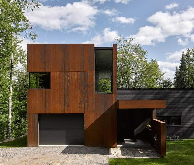 Фасад из кортеновской стали. Фото с сайта dezeen.com