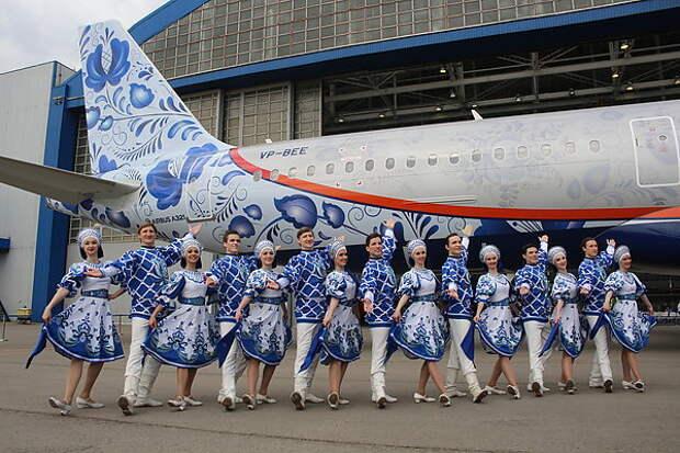 Аэрофлот презентовал самолет в юбилейной ливрее