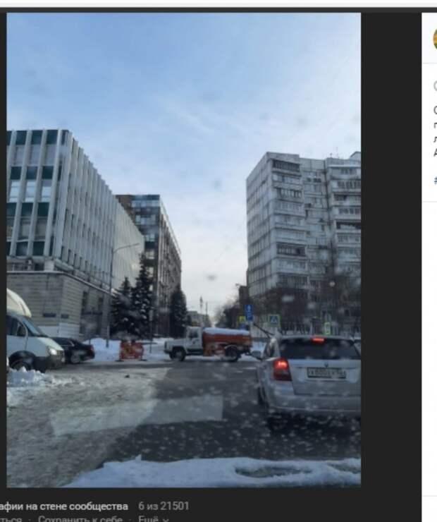 Несколько улиц в Марьиной роще перекрыли из-за уборки снега