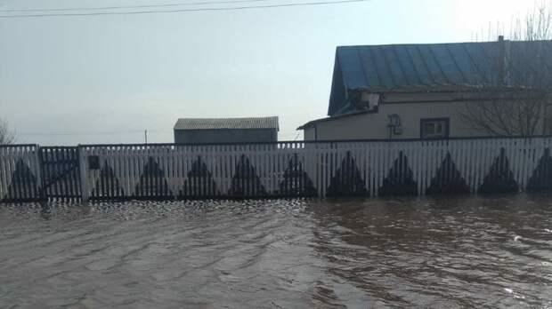 Из-за разлива реки Иртыш затопило деревню Байгара вТобольском районе