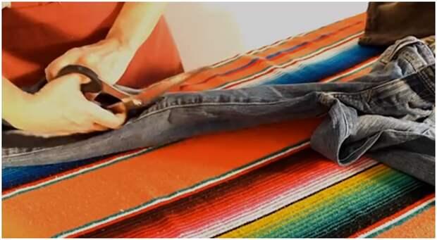Коврик своими руками из старых джинсов.