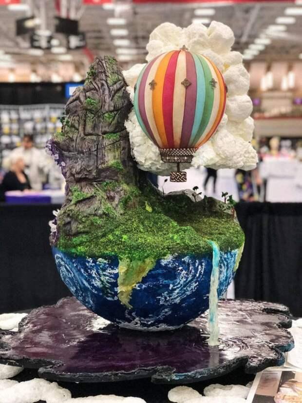 Инсталляция воздушный шар