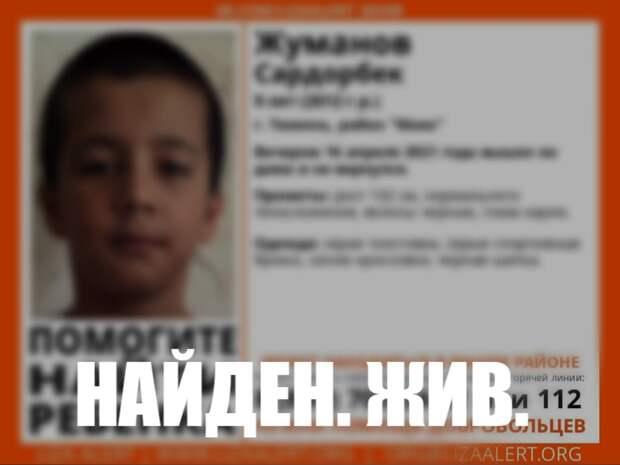 В Тюмени отыскали пропавшего 9-летнего мальчика