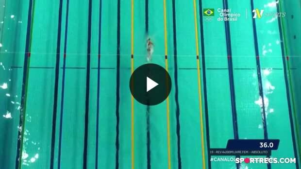 Equipe brasileira consegue bom tempo no 4x 200m Livre Feminino e está na luta pela vaga olímpica - Dia 4 do Pré-Olímpico de Natação (22/04/2021)