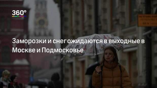 Заморозки и снег ожидаются в выходные в Москве и Подмосковье