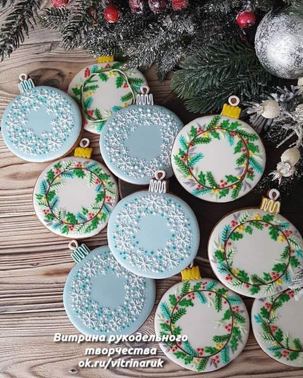 Вкусное и удивительно красивое прянично-новогоднее творчество.