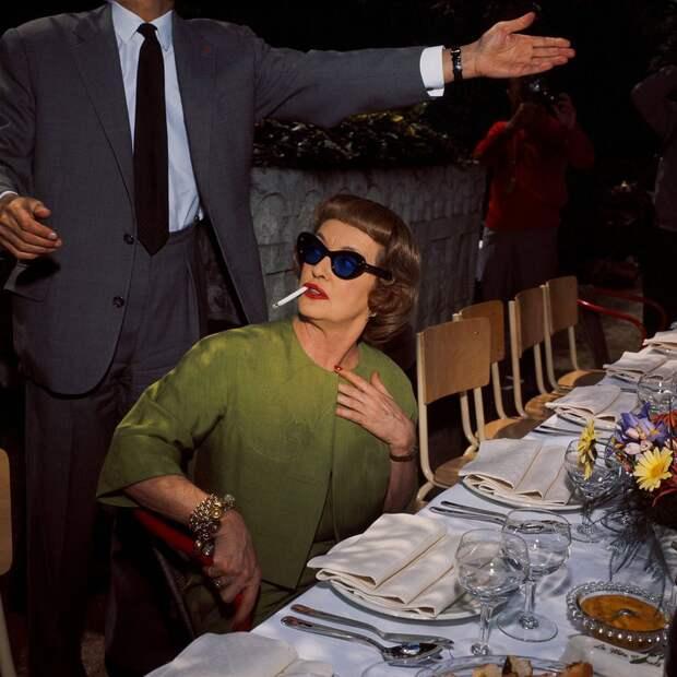 Бетт Дэвис на 16-м Каннском кинофестивале 1963 года.