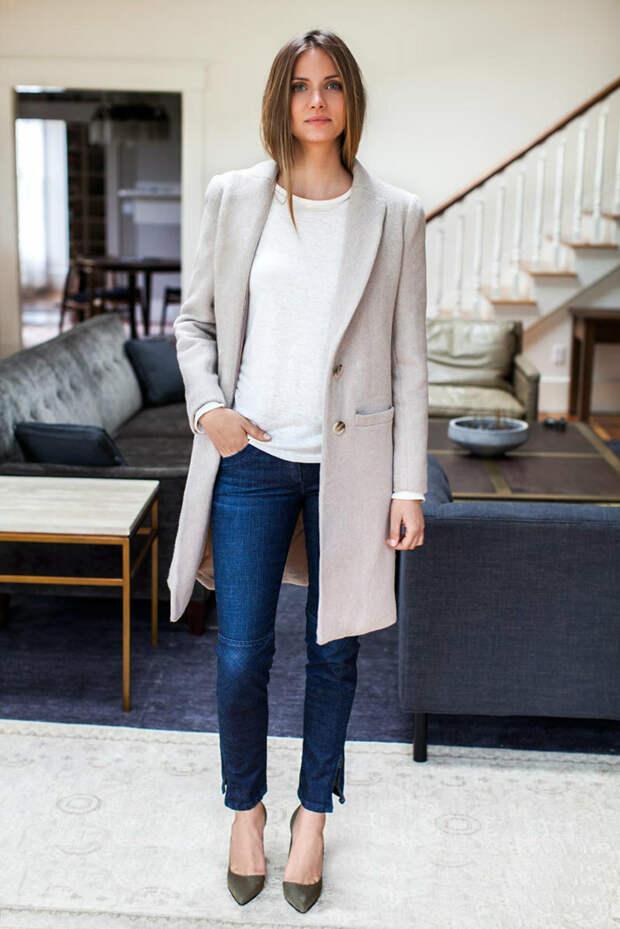 Джинсы в офис. Модная шпаргалка по стильным сочетаниям