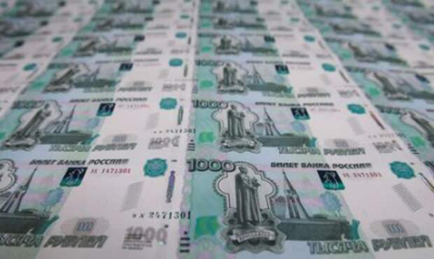 A sheet of 1000 Russian Roubles notes is pictured at Goznak printing factory in Moscow, Russia July 11, 2019. REUTERS/Maxim Shemetov